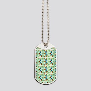 Flowers and Butterflies rug Dog Tags