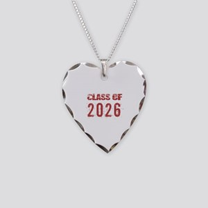 Class Of 2026 (Grunge-c) Necklace Heart Charm