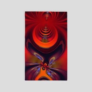 Abstract Fractal Amber Goddess 3'x5' Area Rug
