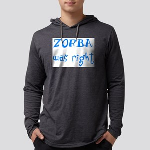 zorba was right Mens Hooded Shirt