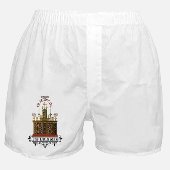 As Altare Dei Latin Mass Boxer Shorts