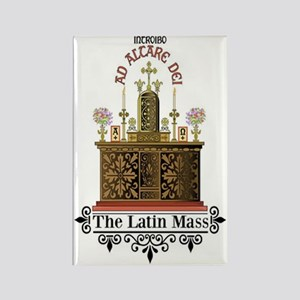 As Altare Dei Latin Mass Rectangle Magnet