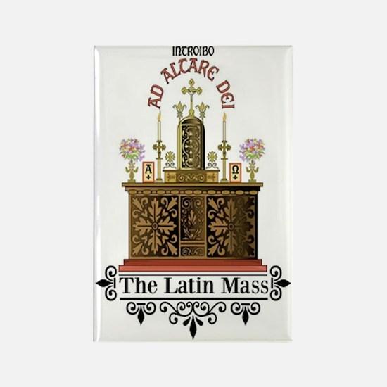 As Altare Dei Latin Mass Rectangle Magnet