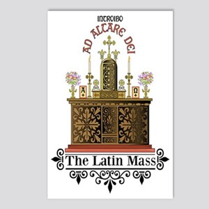 As Altare Dei Latin Mass Postcards (Package of 8)