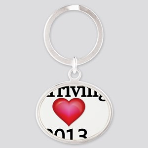 Mom to Be 2013 Oval Keychain
