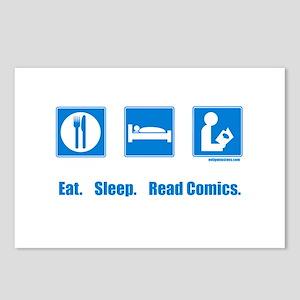 Eat. Sleep. Read comics Postcards (Package of 8)