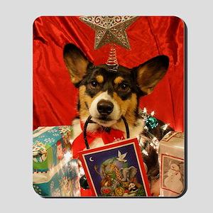 Christmas Corgi Mousepad