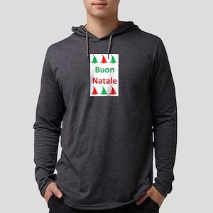 buon natale Mens Hooded Shirt