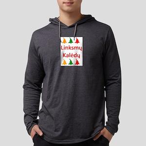 linksmy kaledy Mens Hooded Shirt