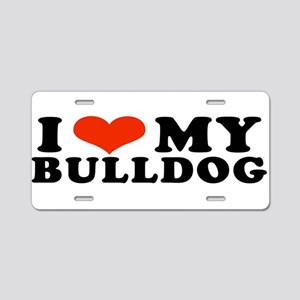 IHeartBulldog Aluminum License Plate