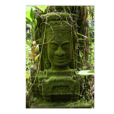 Angkor statue Postcards (Package of 8)