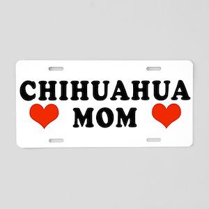 Chihuahua_Mom Aluminum License Plate