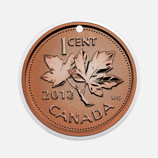Canadian Penny Round Ornament