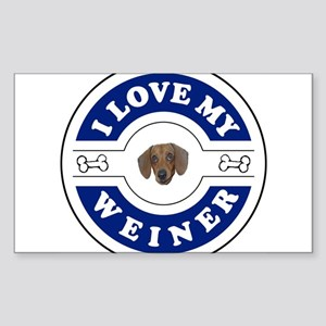 I_love_weiner_trial Sticker (Rectangle)