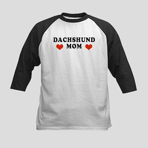 Dachshund_Mom2 Kids Baseball Jersey