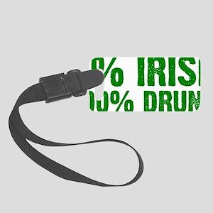 100% Drunk Small Luggage Tag