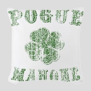 pogue-mahone-vint-LTT Woven Throw Pillow