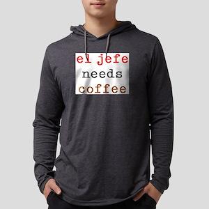 el jefe needs coffee Mens Hooded Shirt
