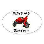 Pimp My Tricycle Oval Sticker