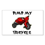 Pimp My Tricycle Rectangle Sticker