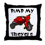 Pimp My Tricycle Throw Pillow