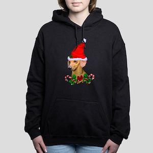Dachshund with Santa Hat Sweatshirt