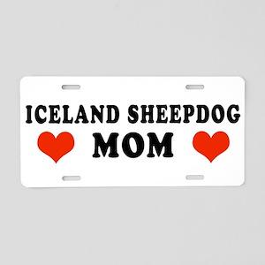 Iceland_Sheepdog_Mom Aluminum License Plate