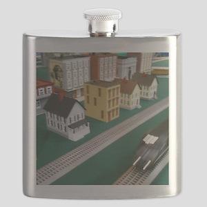 Train Speeding Through Town Flask