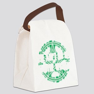 No Rest for the Wiccan (Dark) Canvas Lunch Bag