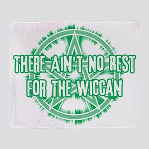 No Rest for the Wiccan (Light) Throw Blanket