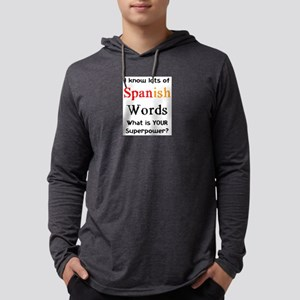 spanish words Mens Hooded Shirt