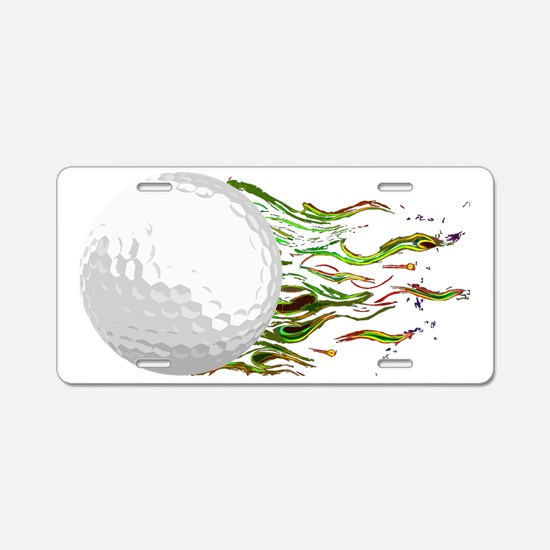 Flaming Golf Ball Club PGA  Aluminum License Plate