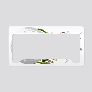 Flaming Golf Ball Club PGA Ma License Plate Holder