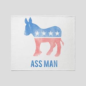 Ass Man Democrat Throw Blanket