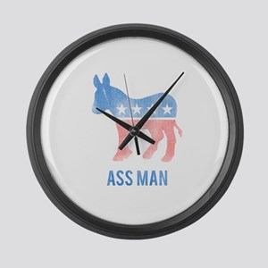 Ass Man Democrat Large Wall Clock