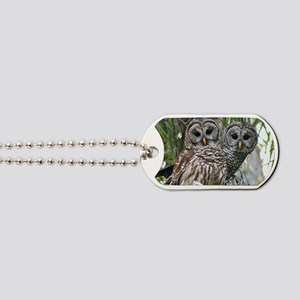 Barred Owl Pair Dog Tags