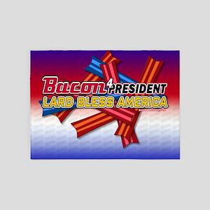 Bacon Lard Bless America Rug 3 5'x7'Area Rug