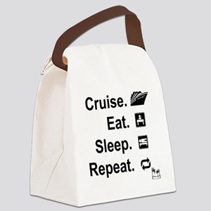 Cruise. Eat. Sleep. Canvas Lunch Bag