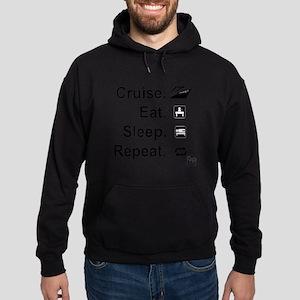 Cruise. Eat. Sleep. Hoodie (dark)