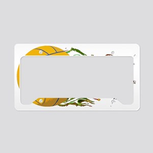 Flaming Waterpolo Ball US Oly License Plate Holder