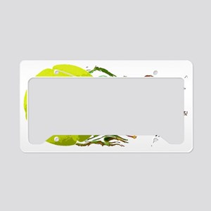 Tennis Ball Flames Artistic U License Plate Holder