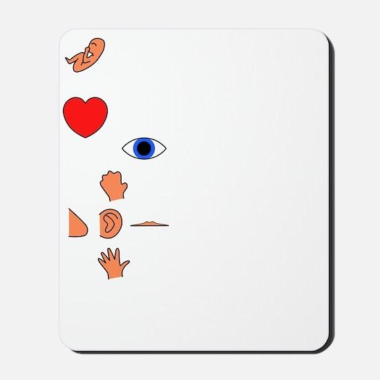 Fetal Development (white print) Mousepad