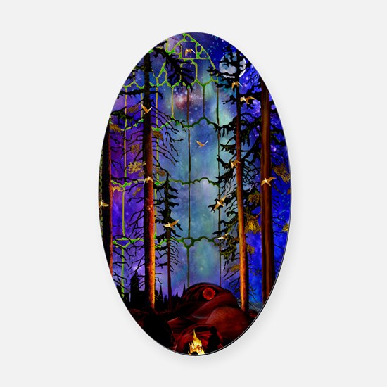 Emergence P Oval Car Magnet