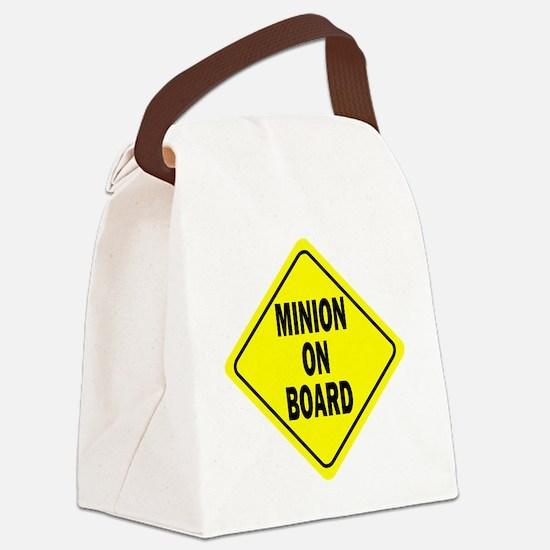 Minion on Board Car Sign Canvas Lunch Bag