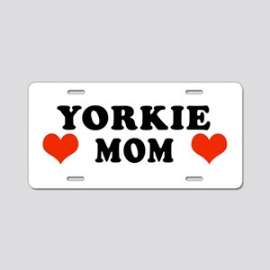Yorkie_Mom Aluminum License Plate