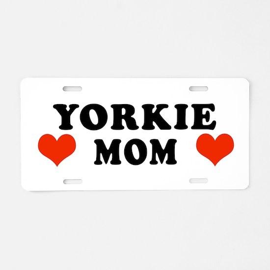 Yorkie_Mom.jpg Aluminum License Plate