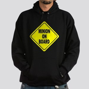 Minion on Board Car Sign Hoodie (dark)