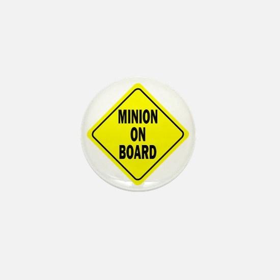 Minion on Board Car Sign Mini Button