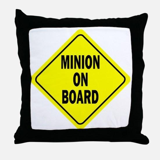 Minion on Board Car Sign Throw Pillow