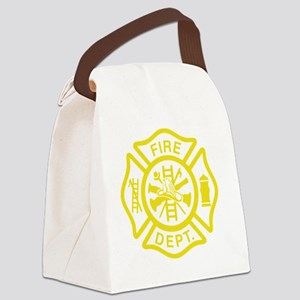 Off Duty Firefighter Canvas Lunch Bag